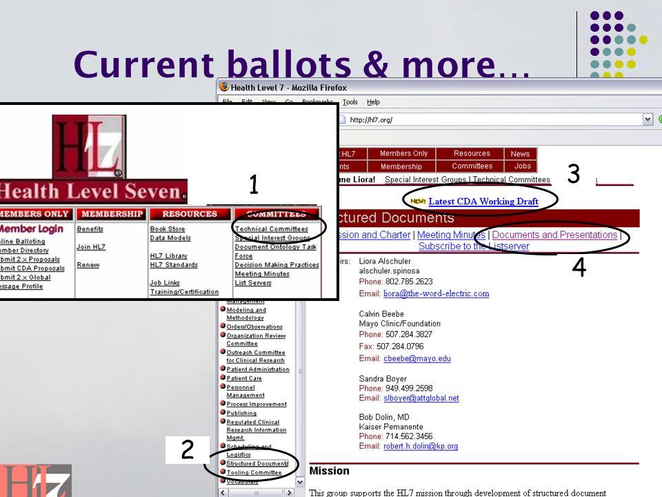 Current ballots & more… 1 2 3 4