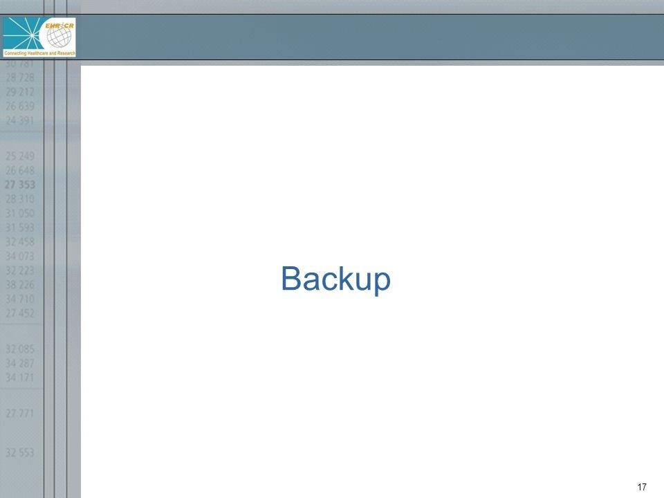 17 Backup