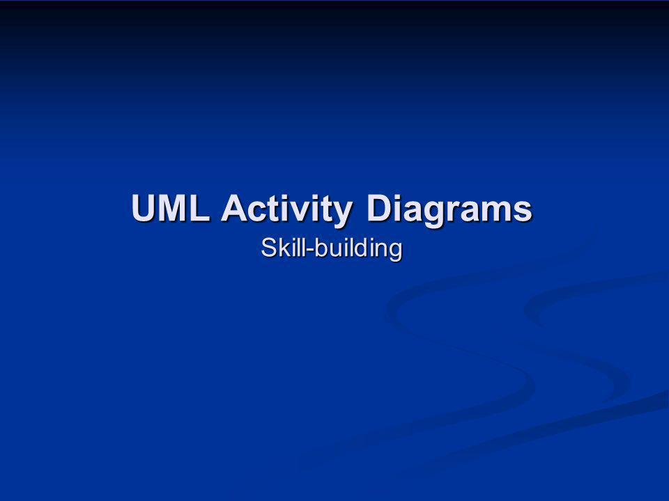 UML Activity Diagrams Skill-building