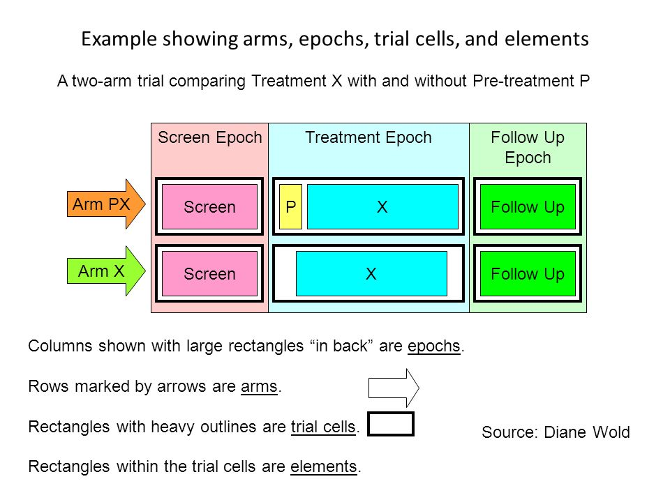 Planned Study Concepts Planned study can be thought of as a spreadsheet Epochs are the columns – Consecutives slices of study time in a trial – Each epoch serves a specific purpose (e.g.