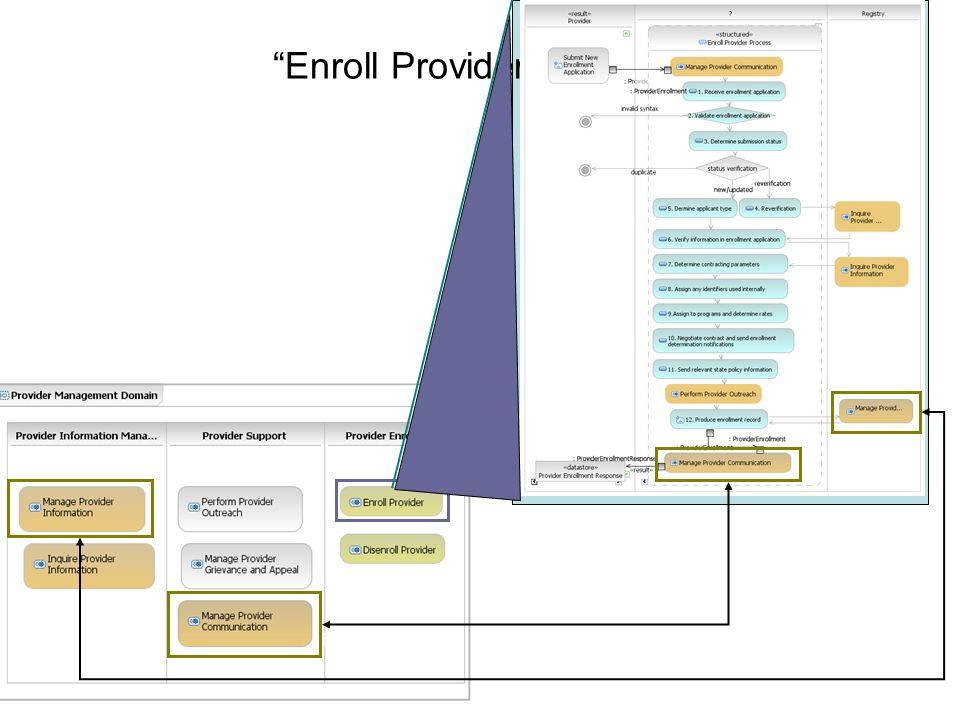 Enroll Provider Process Trigger Input Data Result