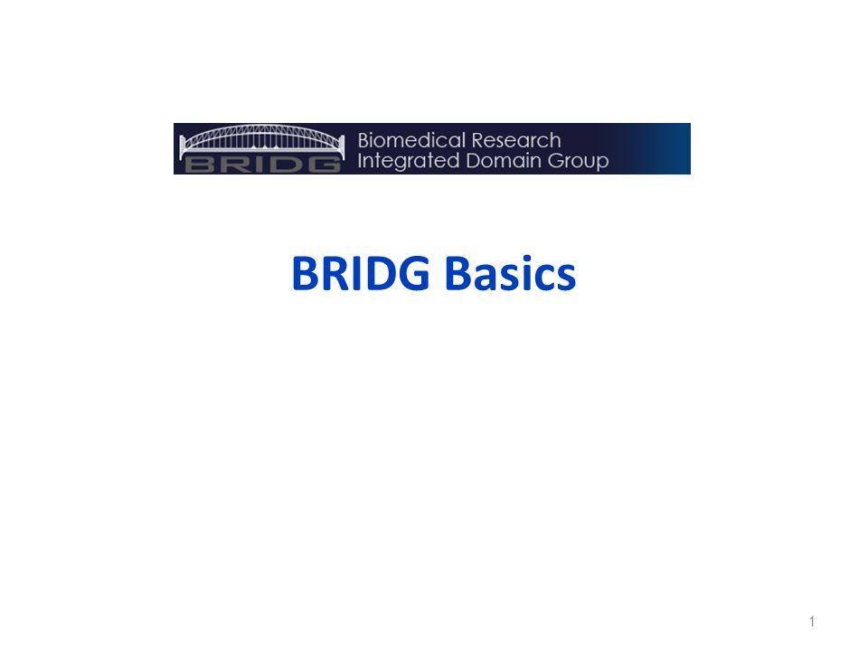 BRIDG Basics 1
