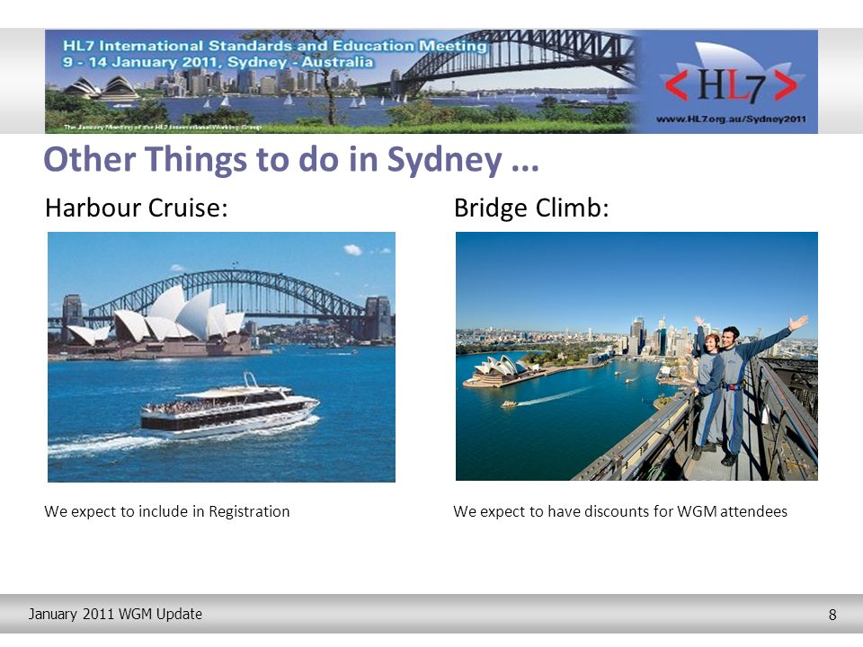 January 2011 WGM Update 8 Other Things to do in Sydney...