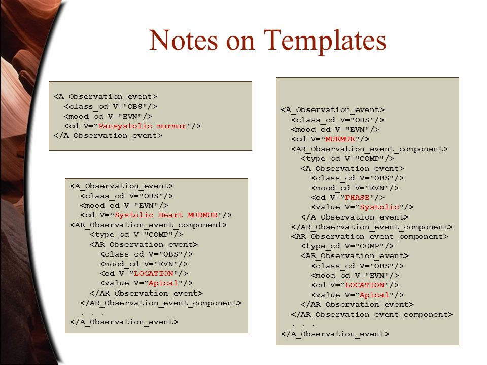 Notes on Templates......