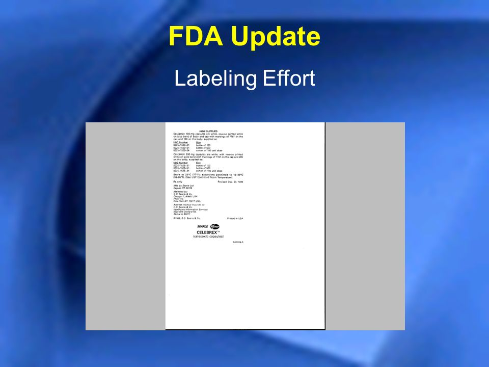 FDA Update Labeling Effort
