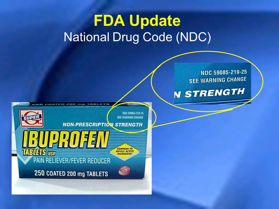 FDA Update National Drug Code (NDC)