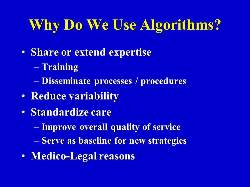 Why Do We Use Algorithms.