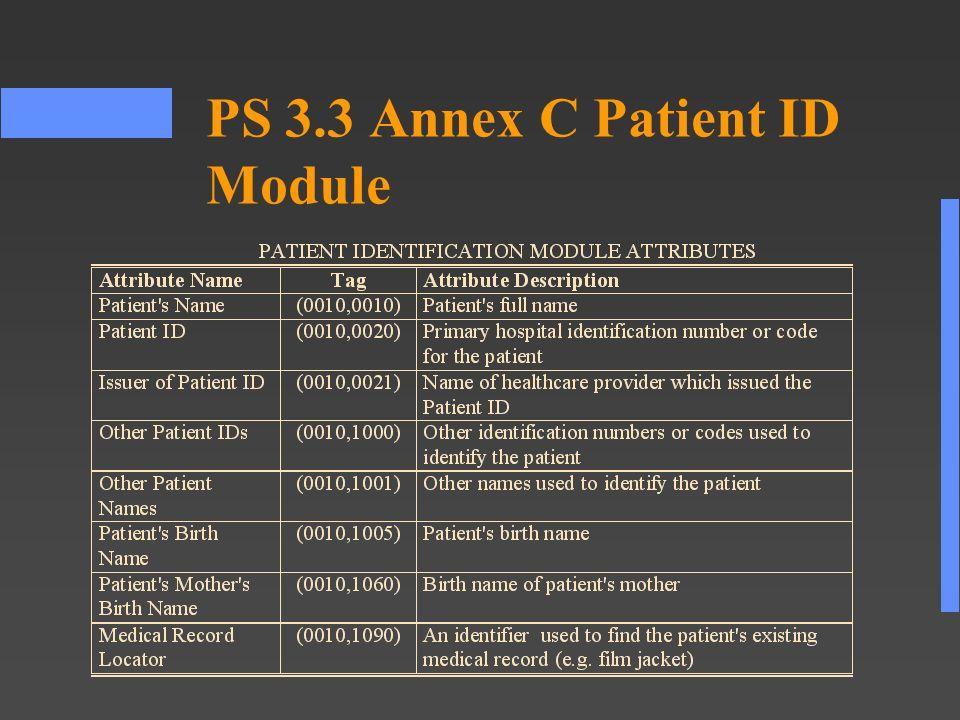 PS 3.3 Annex C Patient ID Module