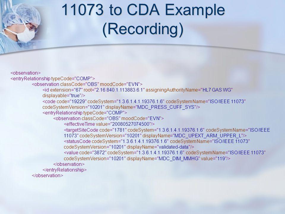 11073 to CDA Example (Recording)