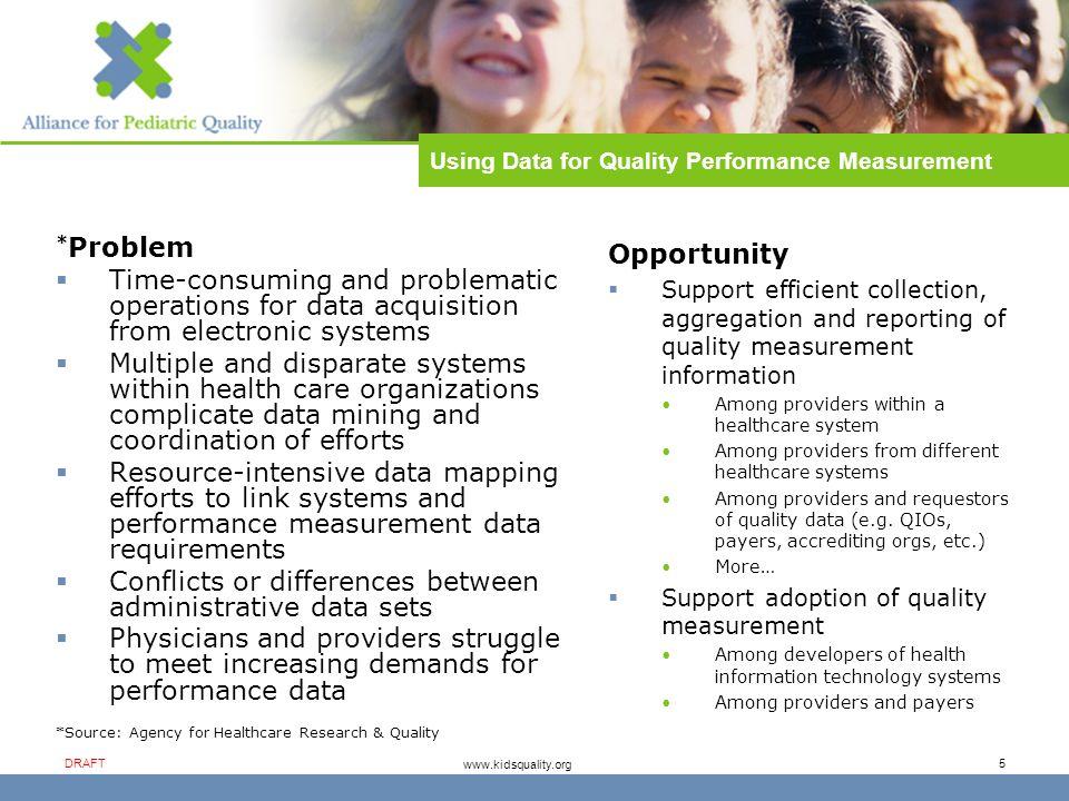 Alliance for Pediatric Quality DRAFT