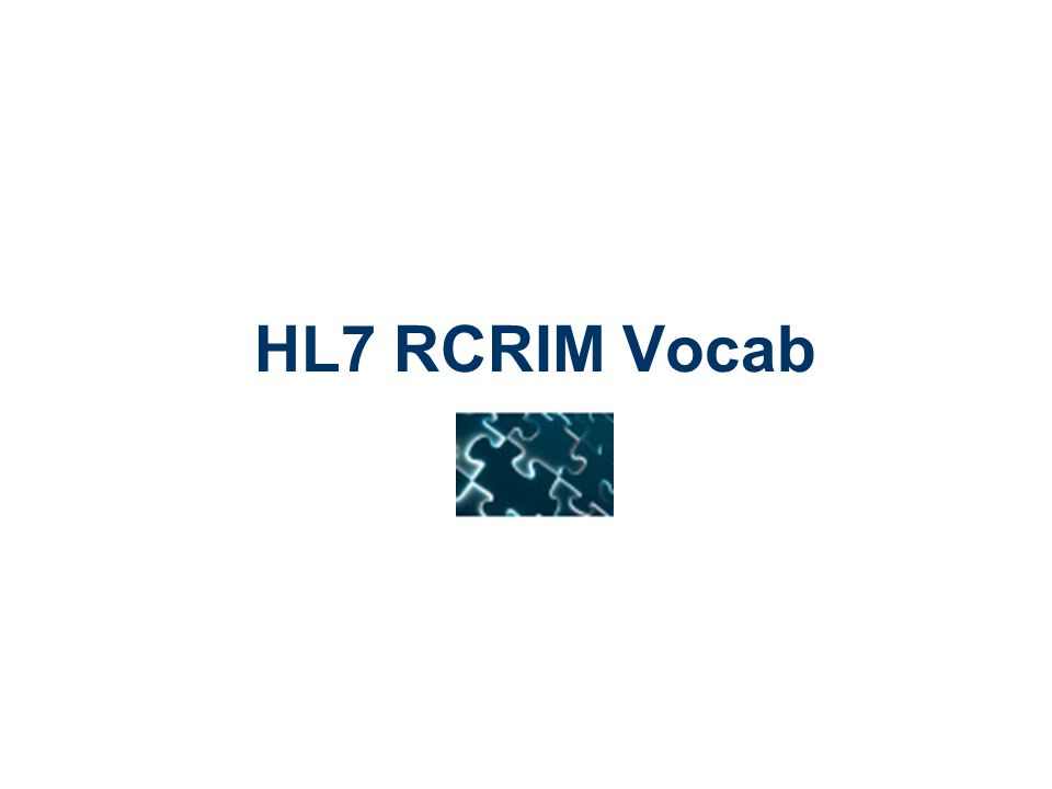 HL7 RCRIM Vocab