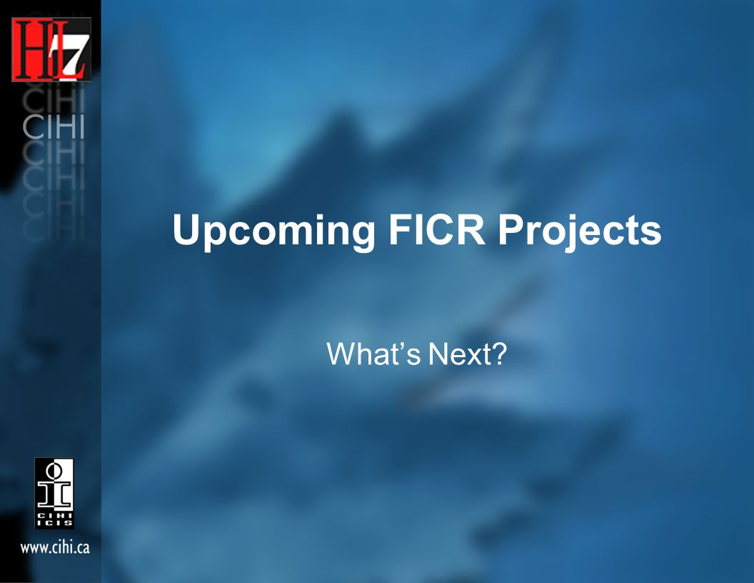 Upcoming FICR Projects Whats Next