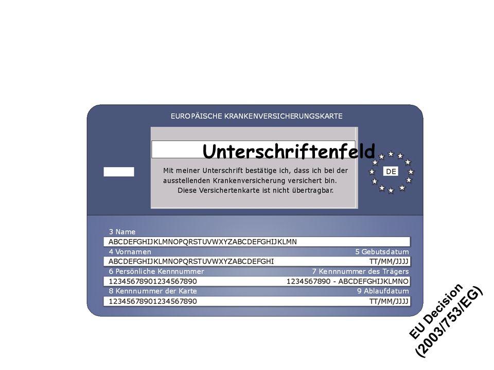 Unterschriftenfeld EU Decision (2003/753/EG)