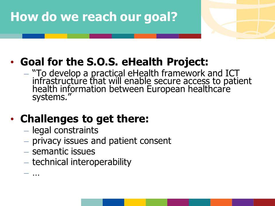 How do we reach our goal. Goal for the S.O.S.