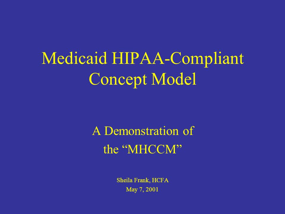 Background HCFA and State Medicaid management literally have spent decades encouraging creative, divergent solutions to similar issues.