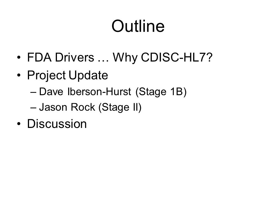 Why CDISC-HL7.