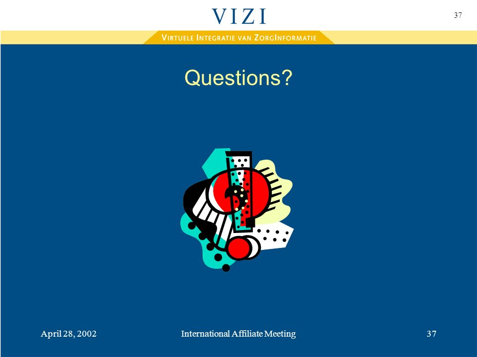 37 April 28, 2002International Affiliate Meeting37 Questions?