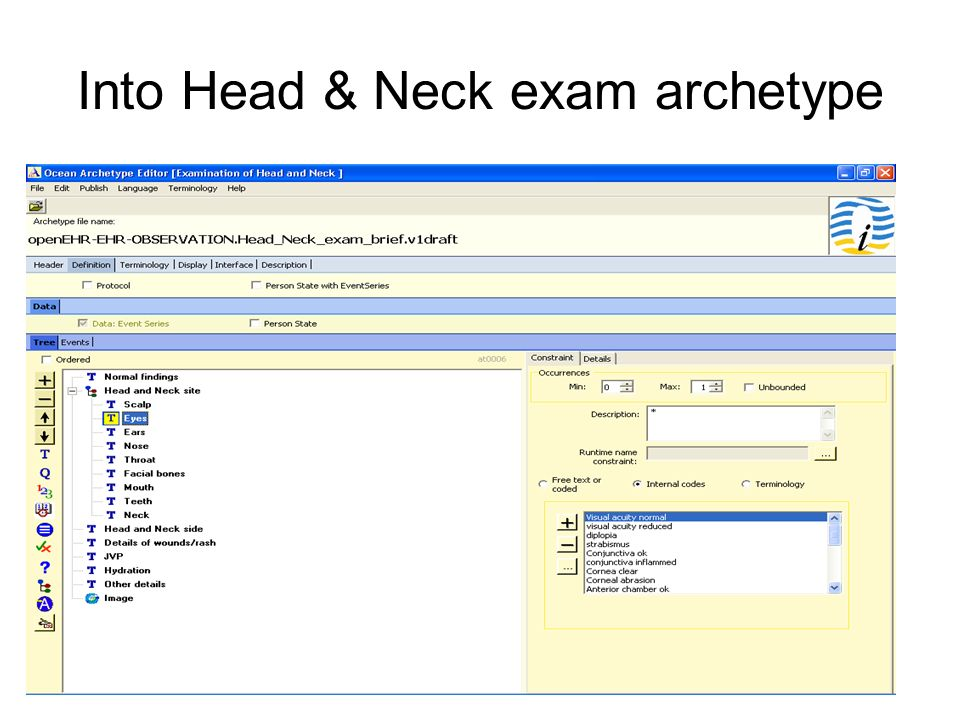 Into Head & Neck exam archetype
