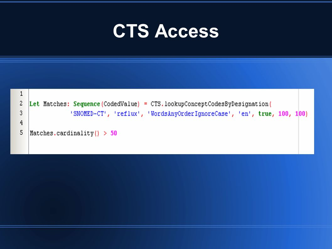 CTS Access