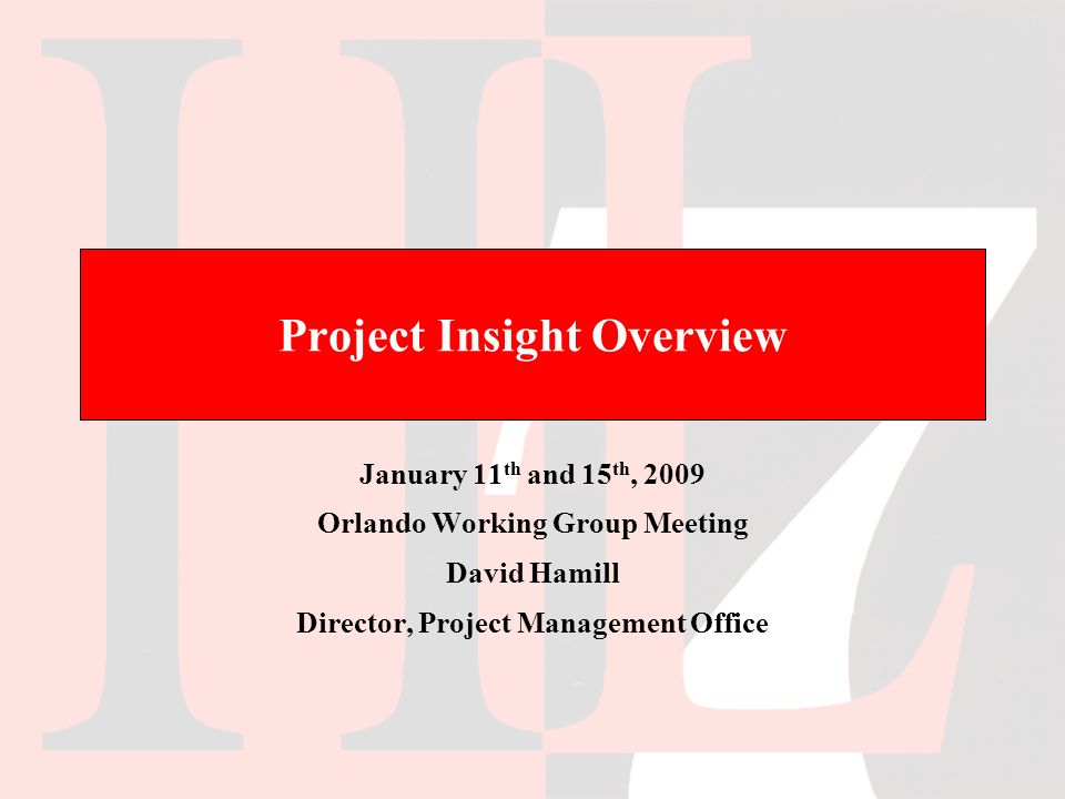 October, 2009 WGM - OrlandoProject Insight Overview22 Add Project