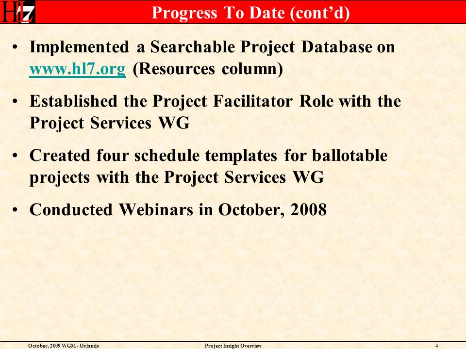 October, 2009 WGM - OrlandoProject Insight Overview15 Modifying Portal Page (aka Home Page)