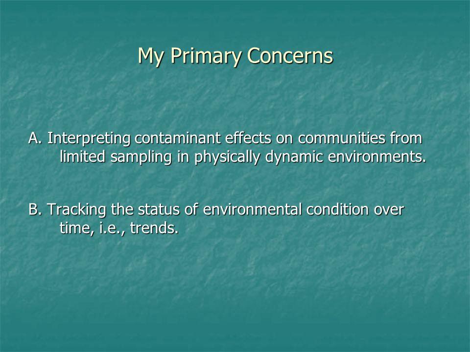 My Primary Concerns A.
