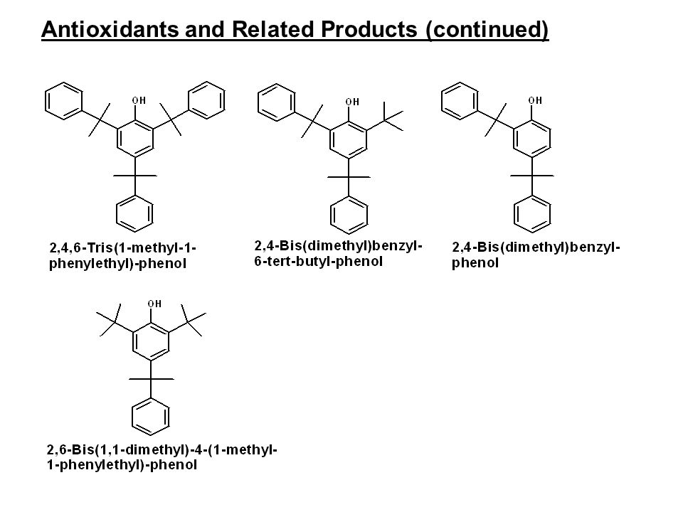 Antioxidants and Related Products (continued)