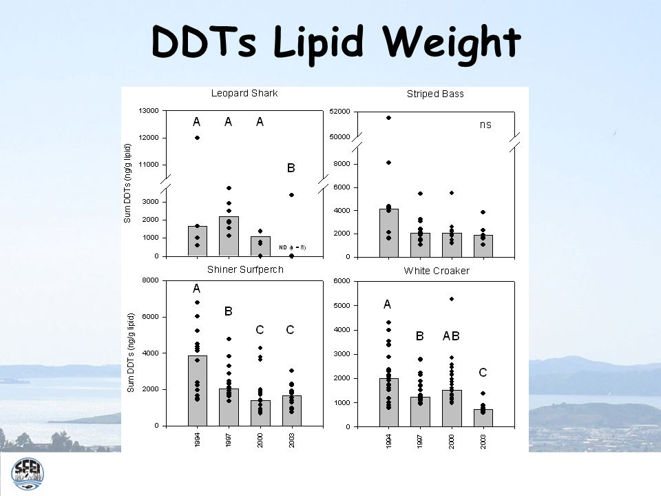 DDTs Lipid Weight