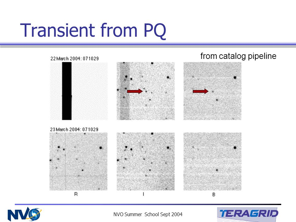 NVO Summer School Sept 2004 Transient from PQ from catalog pipeline