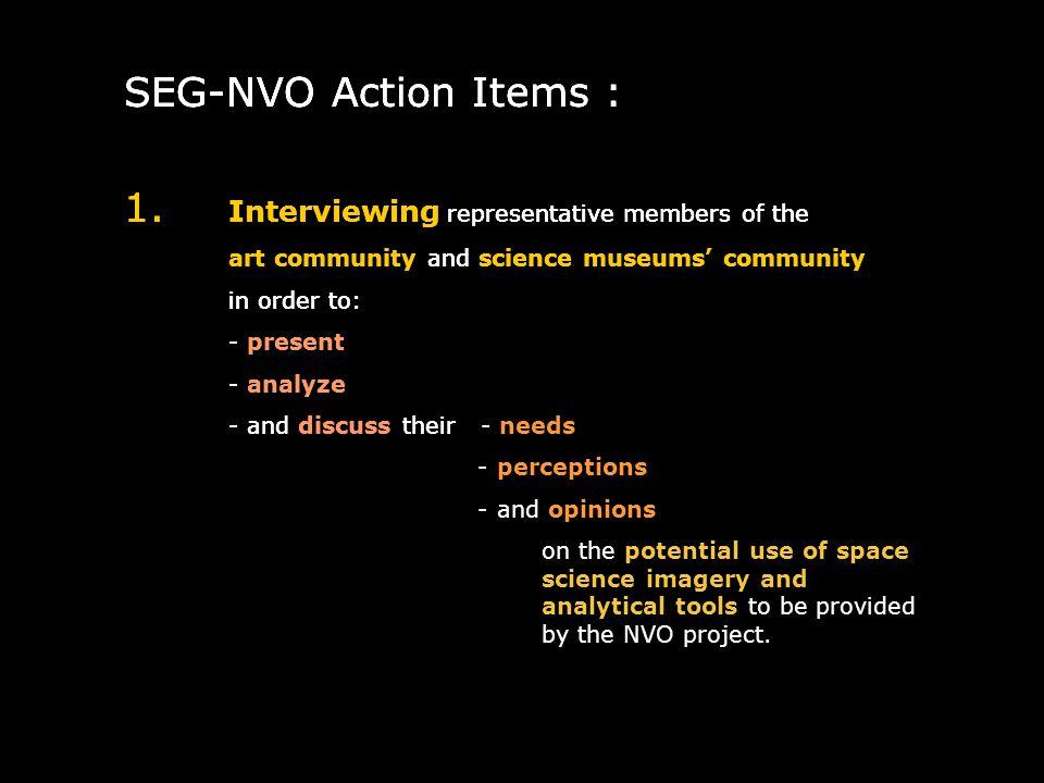 SEG-NVO Action Items : 1.