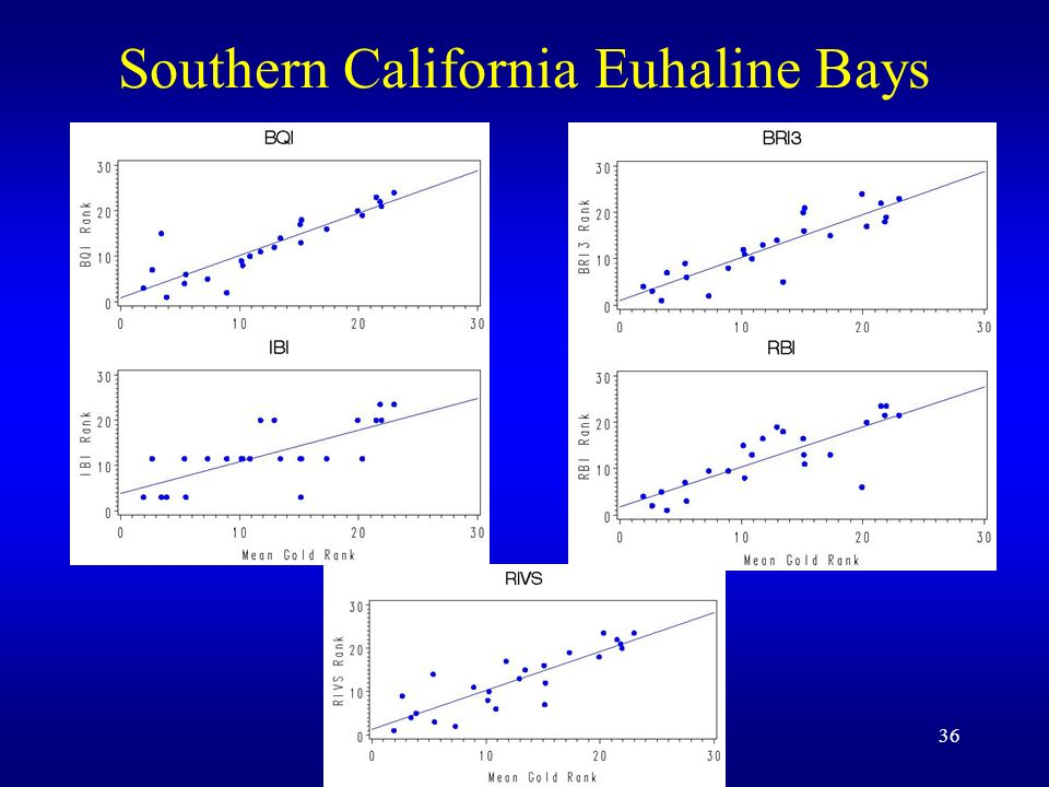 36 Southern California Euhaline Bays