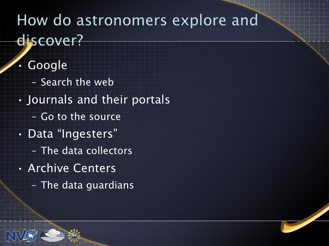 How do astronomers explore and discover.