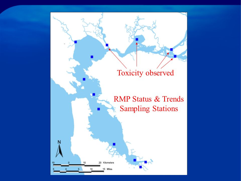 RMP Status & Trends Sampling Stations Toxicity observed