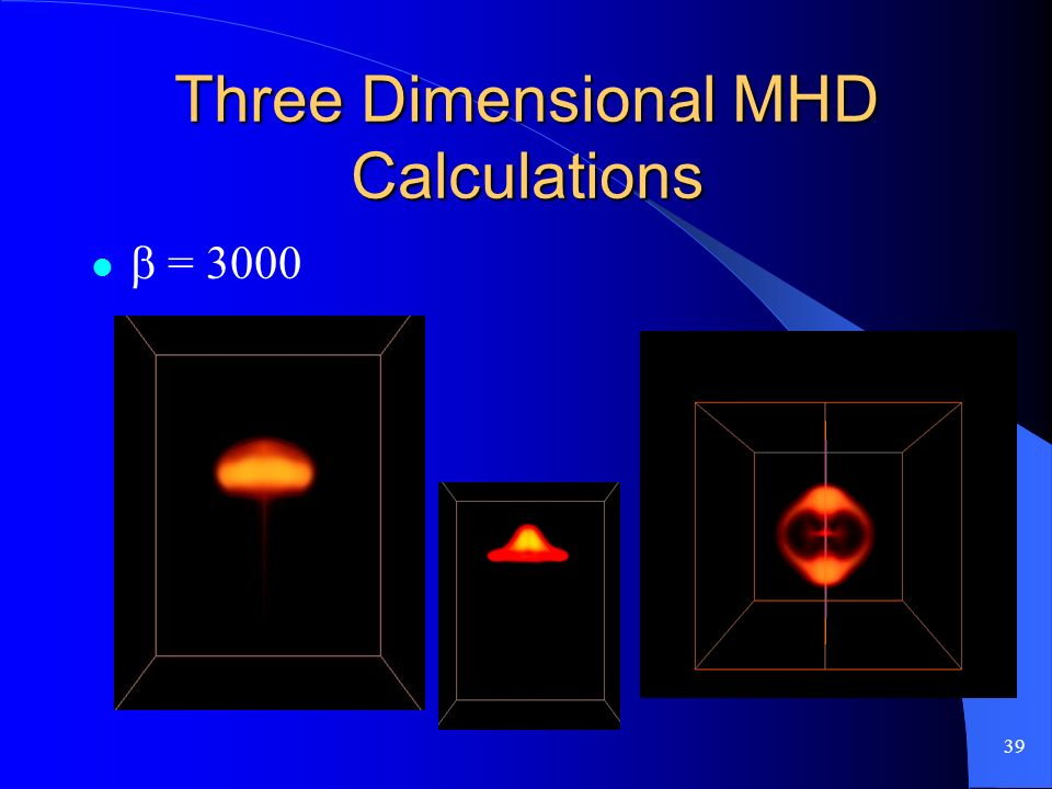 39 Three Dimensional MHD Calculations = 3000
