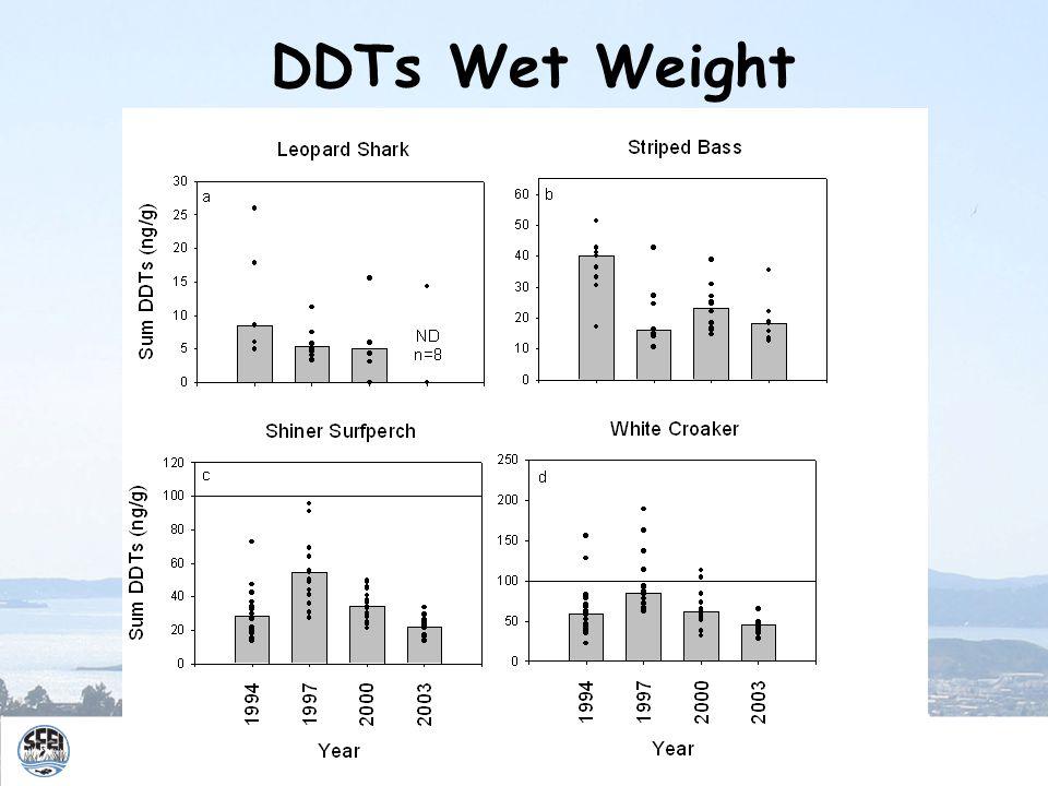 DDTs Wet Weight