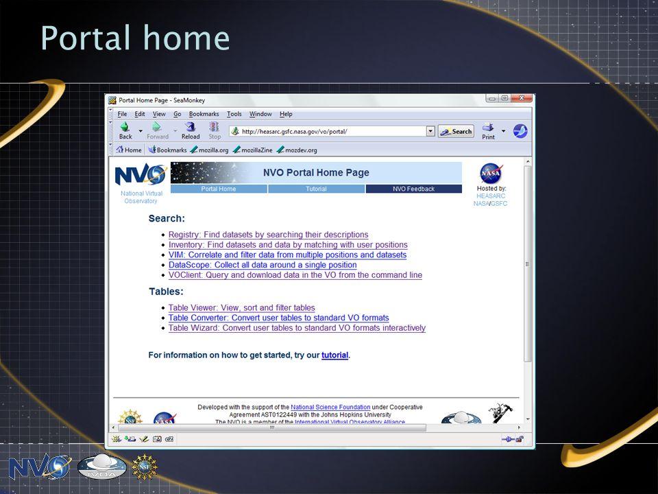 Portal home