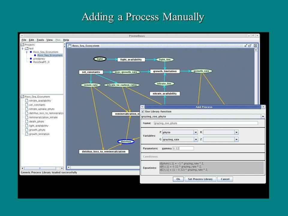 Adding a Process Manually