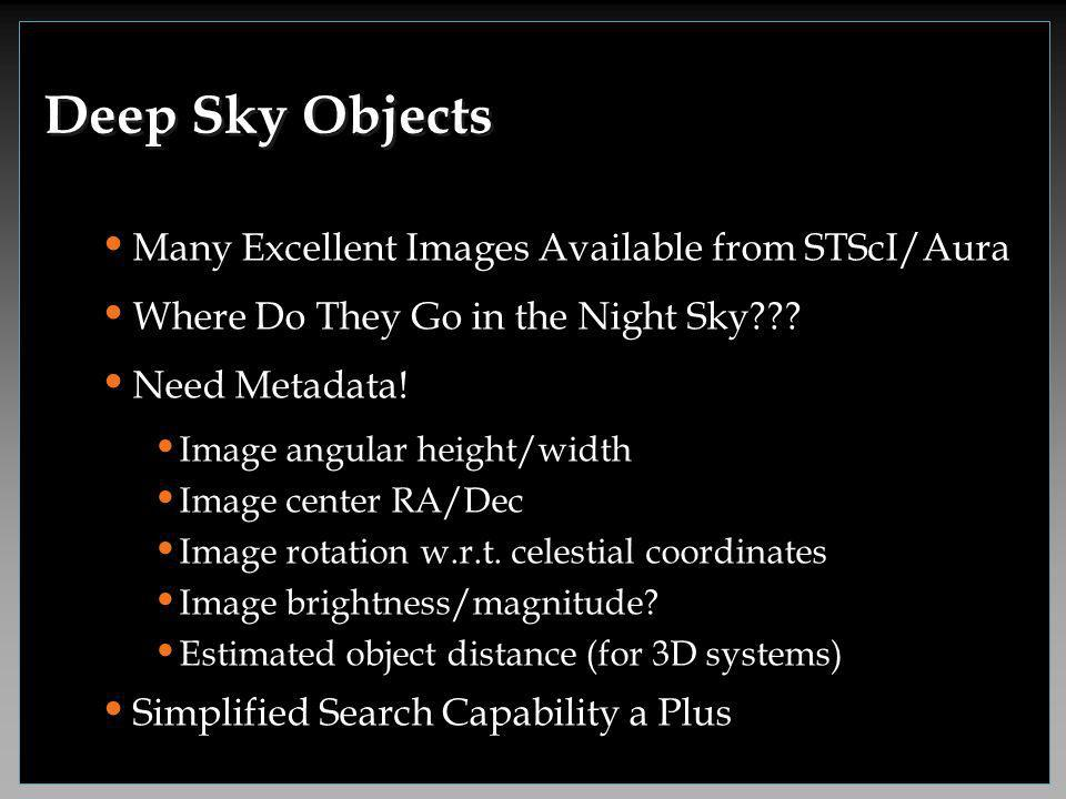Many Excellent Images Available from STScI/Aura Where Do They Go in the Night Sky .