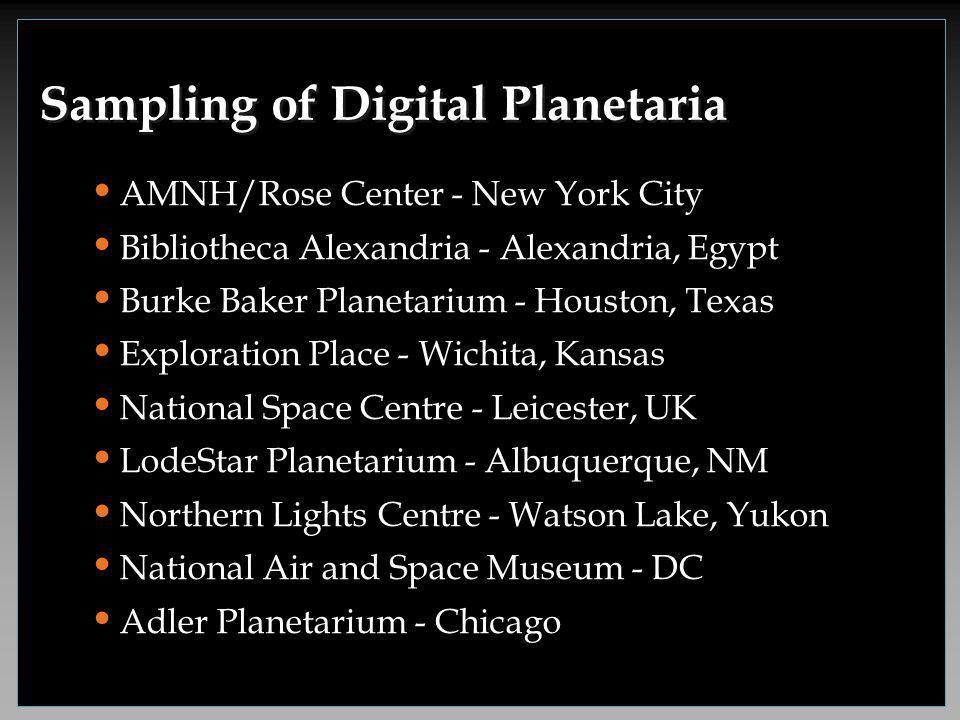 LodeStar Planetarium Albuquerque, NM Bibliotheca Alexandria Alexandria, Egypt