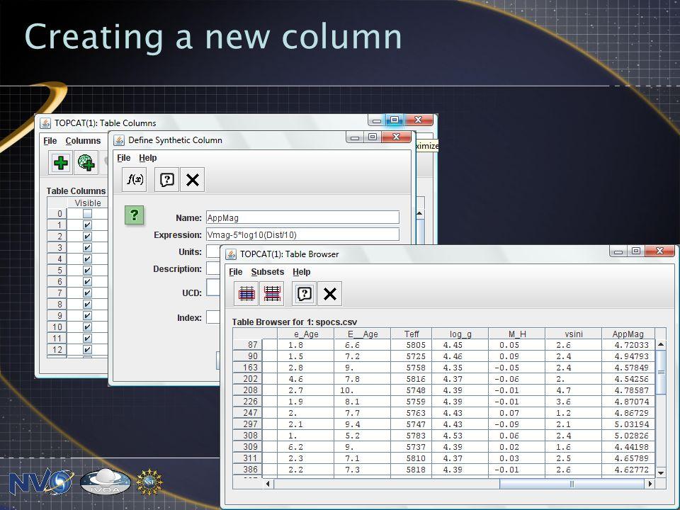 Creating a new column