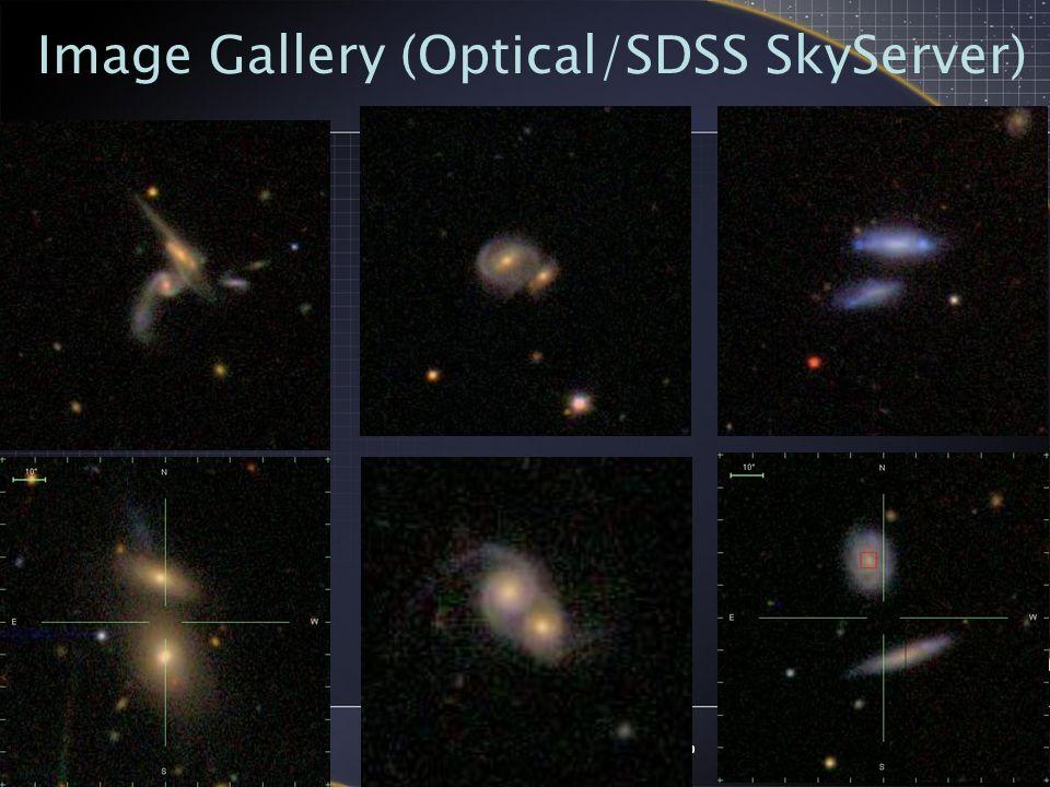 2005-09-14NVO Summer School, Aspen, Colorado1 Tools Open Sky Query – download 2MASS XSC data – match 2MASS merging pair galaxies with SDSS, FIRST, XMM, ROSAT, and GALEX catalogs Topcat and VOPlot – analyze photo.