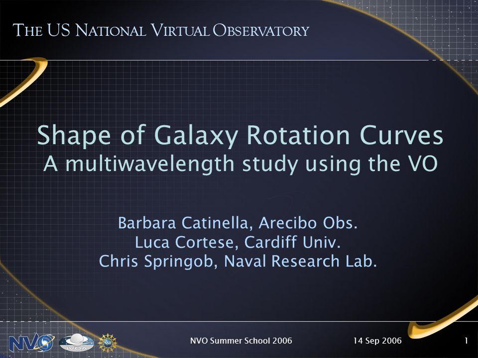 14 Sep 2006NVO Summer School 20062 Rotation Curves (RCs)