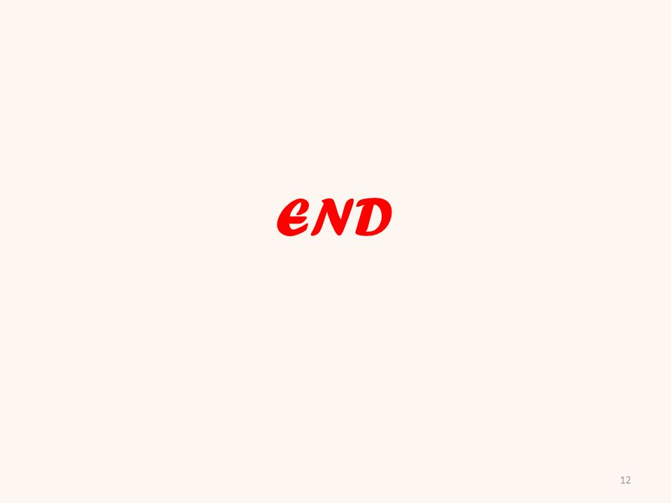 12 END