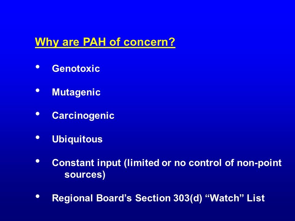 Why are PAH of concern.
