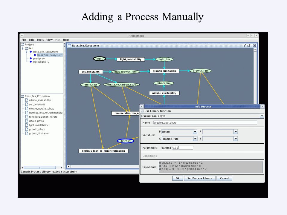 Adding a Process Manually