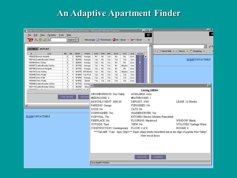 An Adaptive Apartment Finder