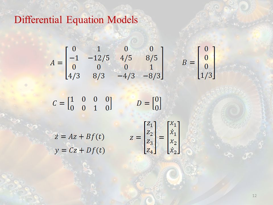 12 Differential Equation Models