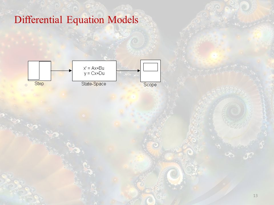 13 Differential Equation Models