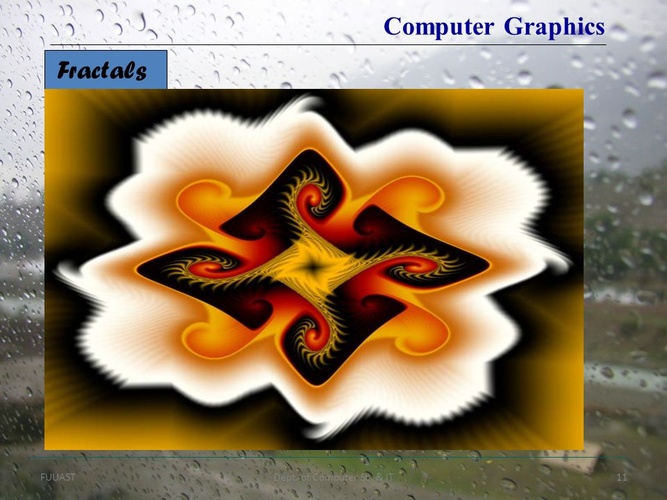 FUUASTDept. of Computer Sc. & IT11 Fractals Computer Graphics