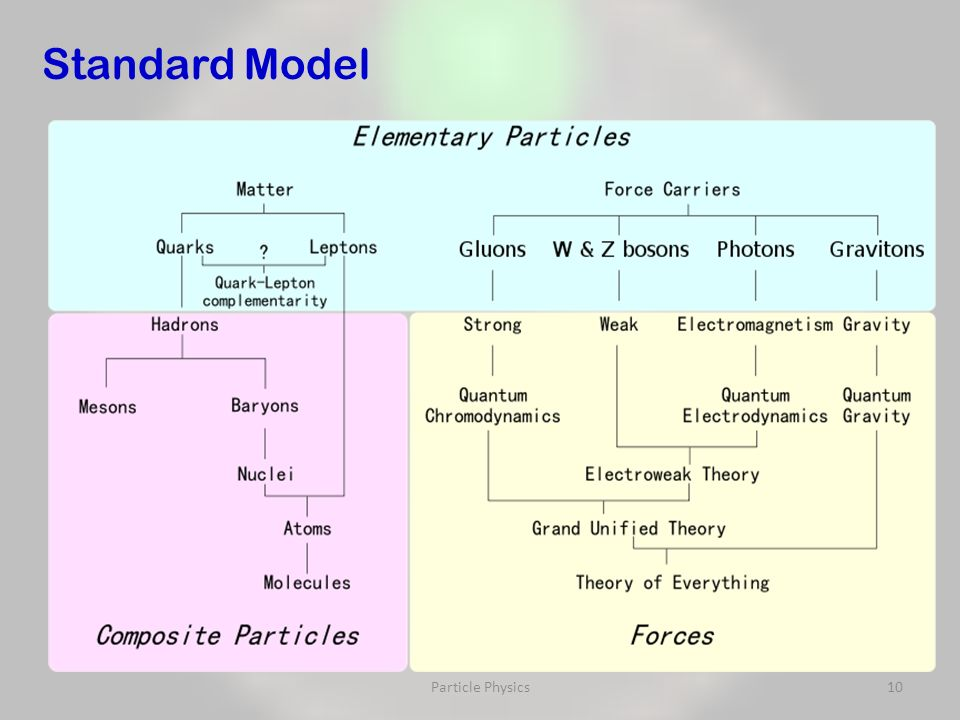 Particle Physics10 Standard Model